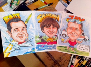 gift caricature montage